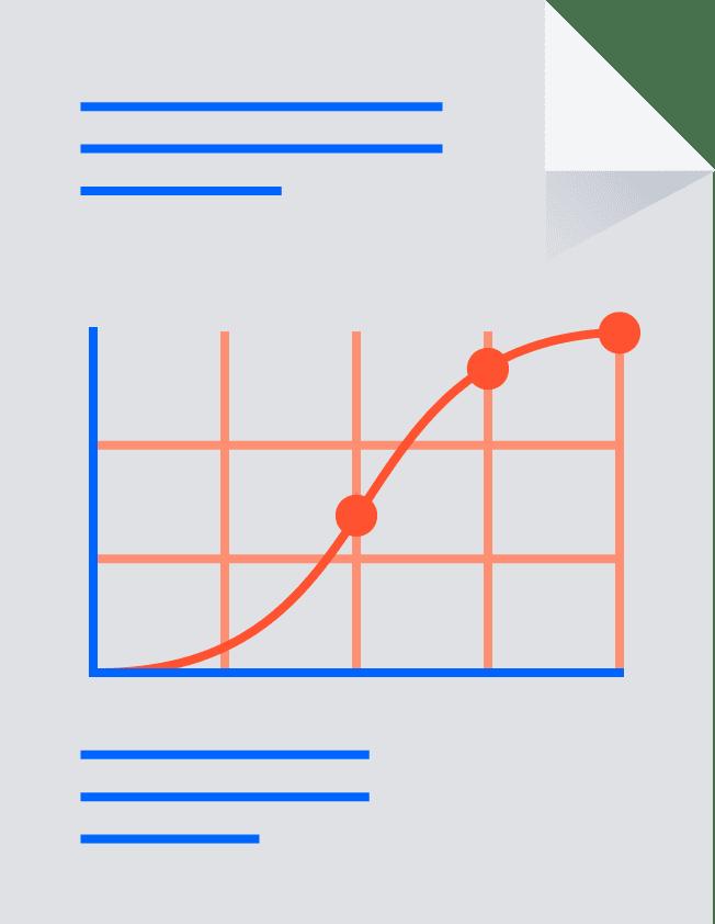 Papier mit Diagramm