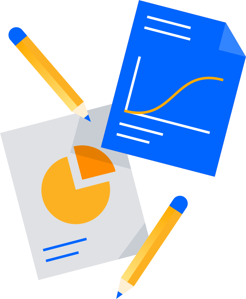 Illustrations de crayons et papiers