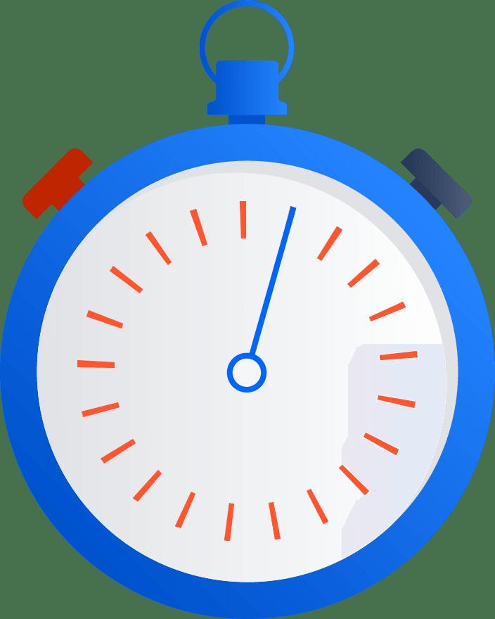 Illustrazione di un cronometro