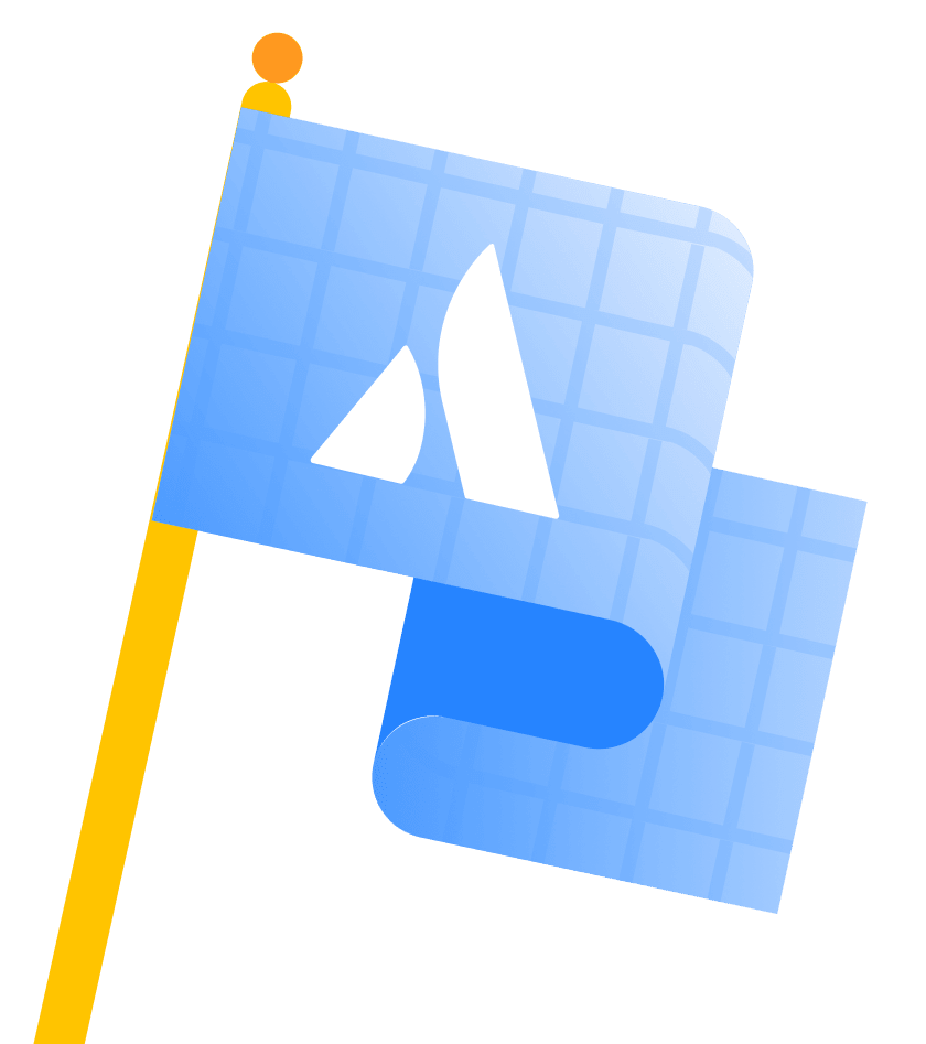 Bandiera modello Point A
